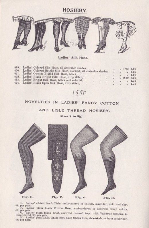 1890 stockings