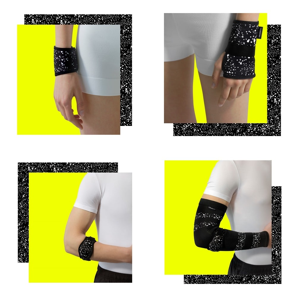 bandage collage yellow