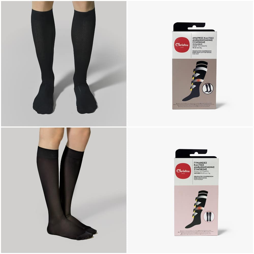 compression socks collage