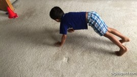 kid crawling
