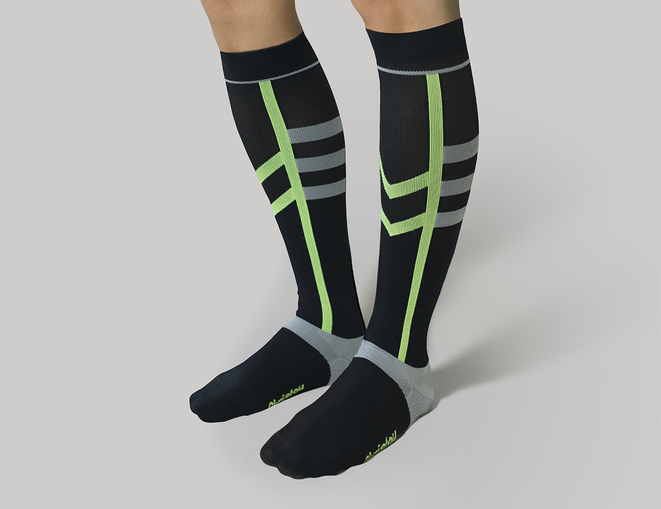 Graduated Compression Knee-High Sports Socks