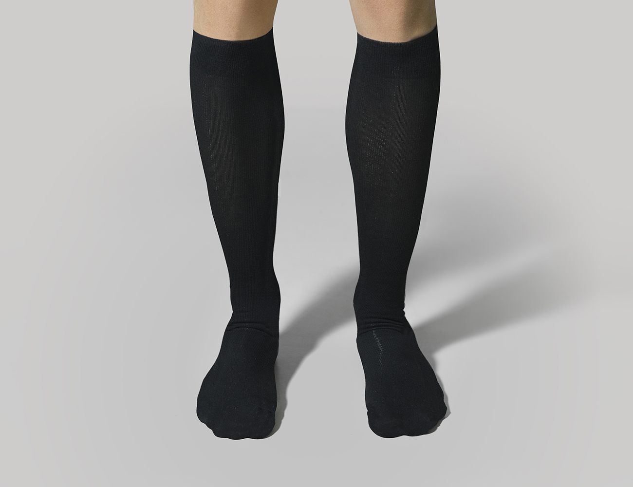 Graduated Compression Knee-High Cotton Socks for Men