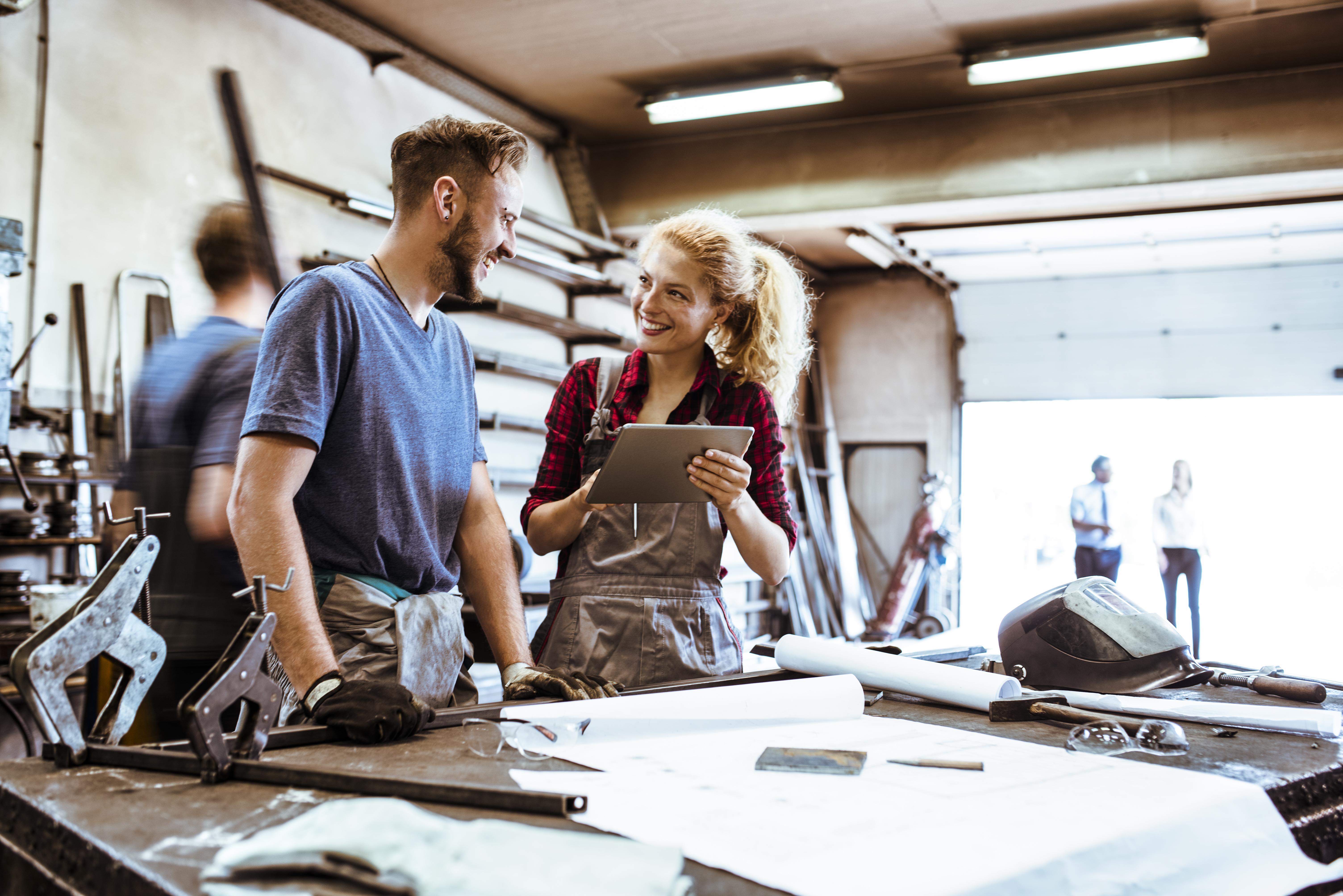 People working in metalshop