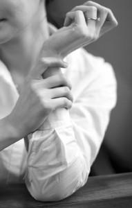 Wrist black and white