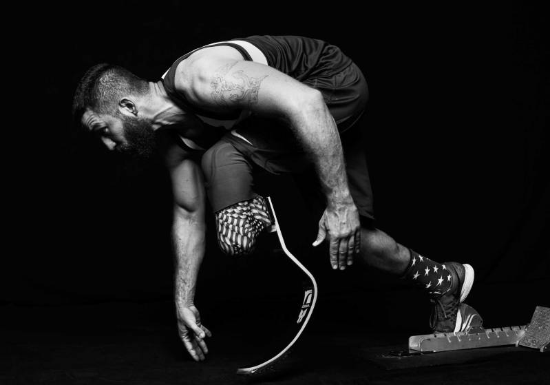 athlete body black and white